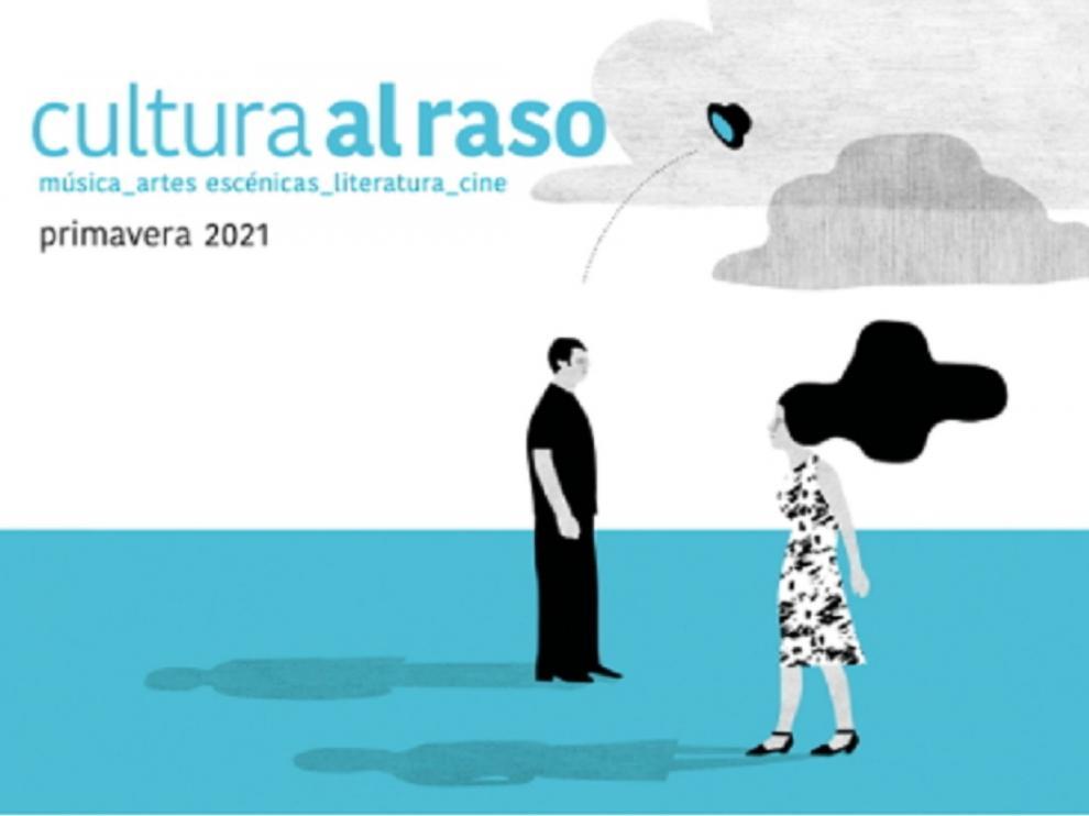 Cartel de 'Cultura al Raso' de Zaragoza.