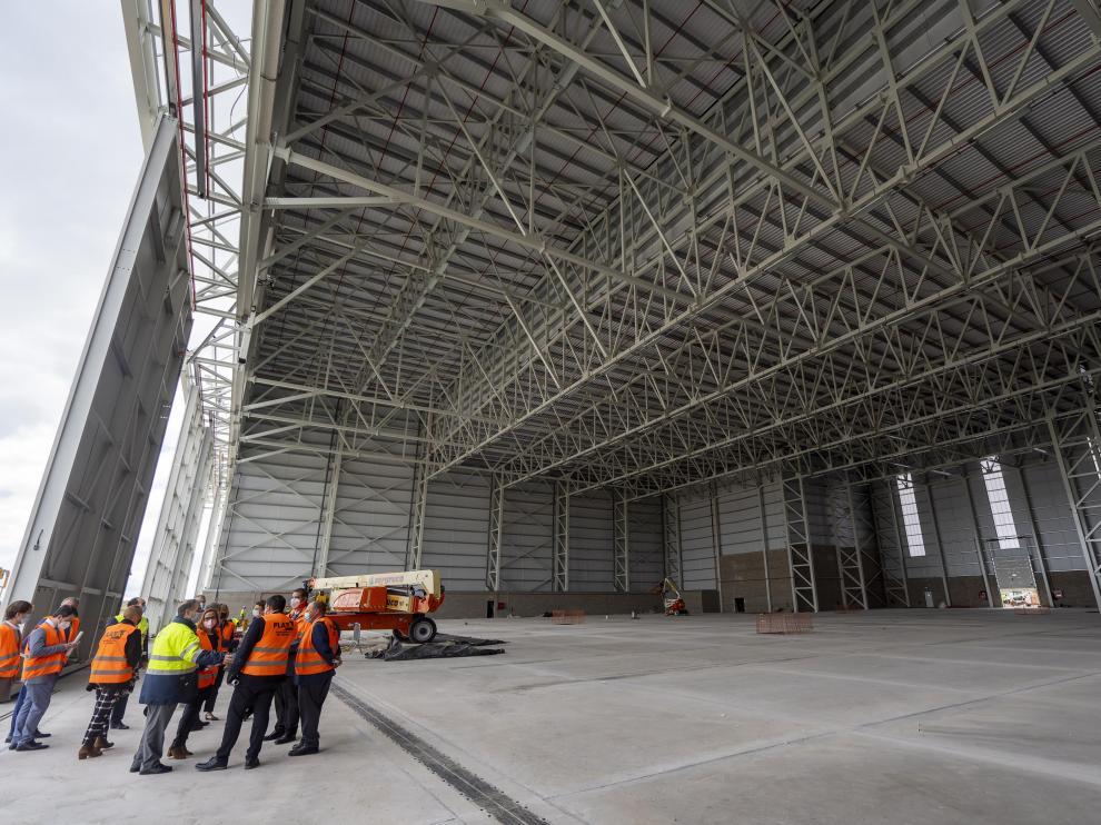 El hangar de pintura, el último equipamiento incorporado al aeropuerto de Teruel.