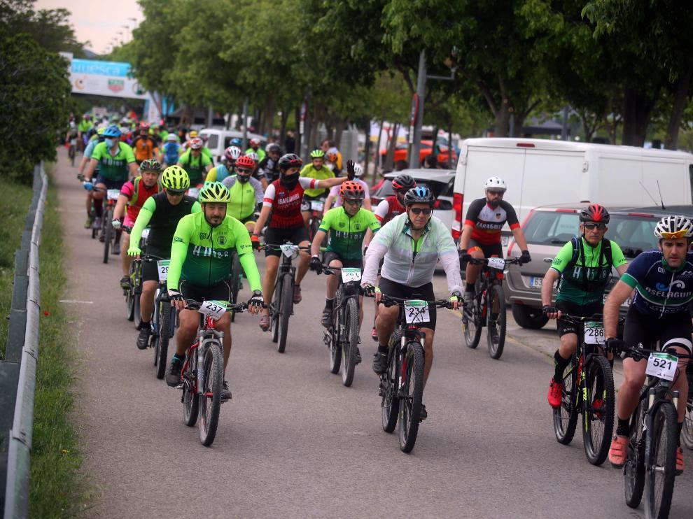La marcha cicloturista BTT HU 108 contó con 300 participantes.
