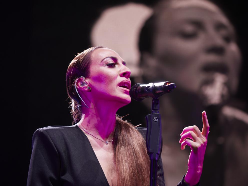 Mónica Naranjo durante el concierto de este sábado