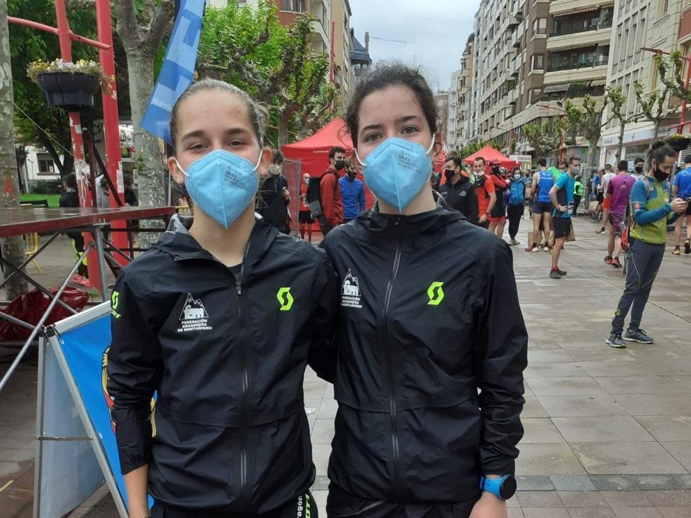 Inés González y Carrodilla Cabestre, en la prueba en Miranda de Ebro.