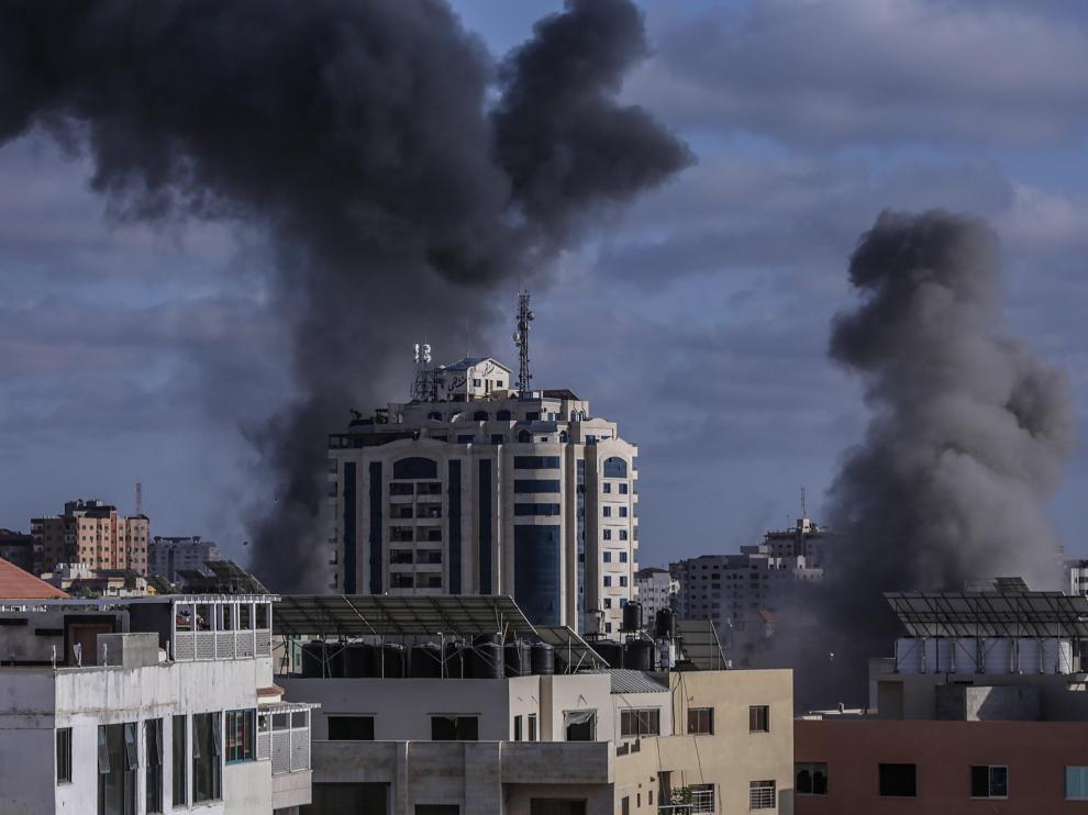 Bombardeos en Gaza.