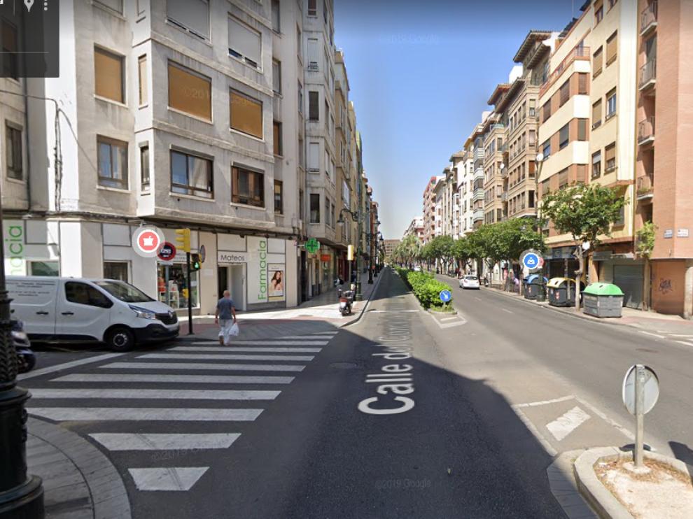 El suceso tuvo lugar en la calle de Conde Aranda, a la altura de la vía Mayoral.