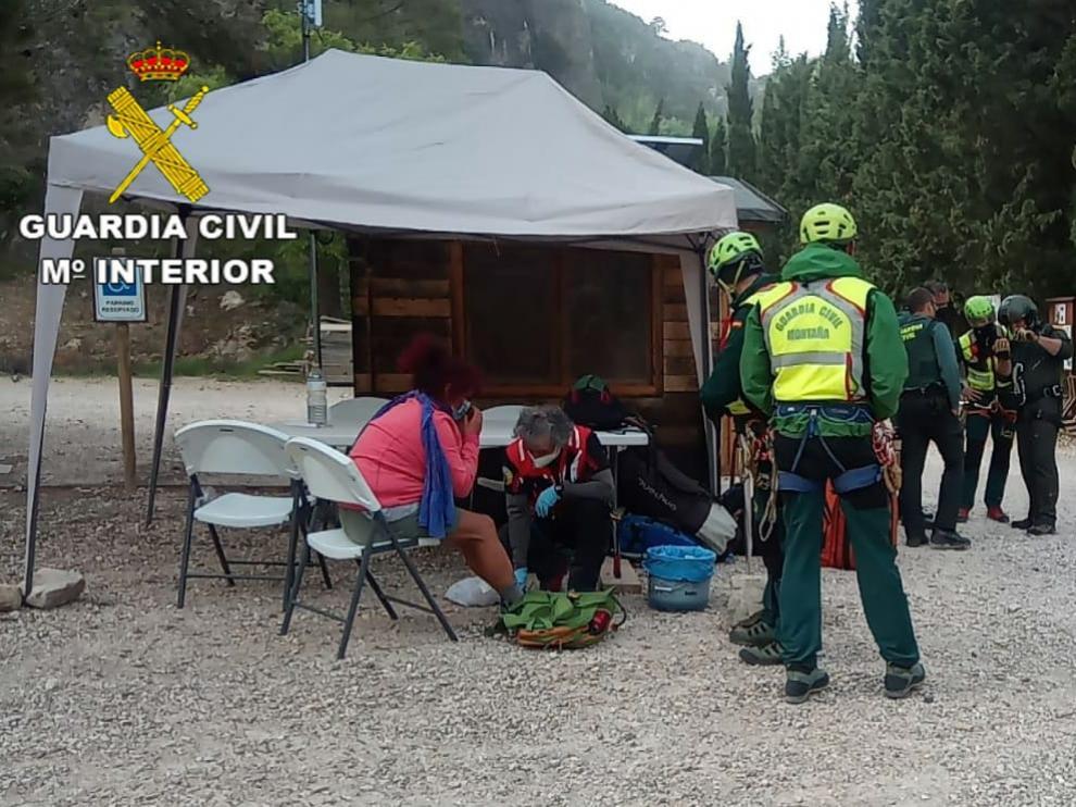 Guardia Civil rescata a una senderista