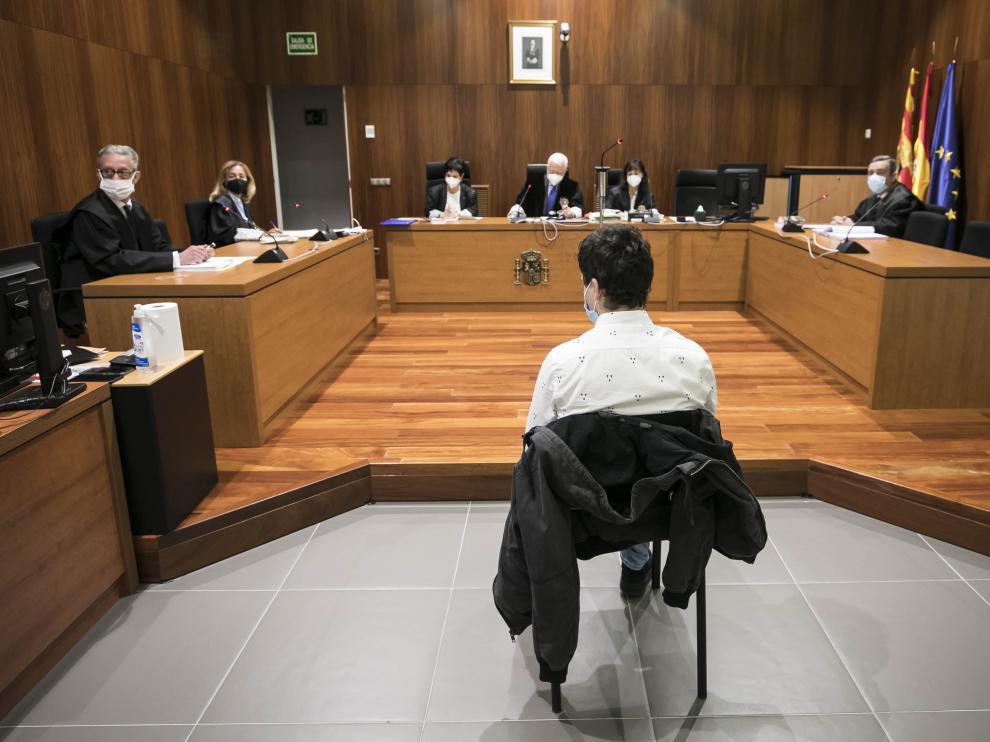 El acusado, durante el juicio celebrado en la Audiencia de Zaragoza.
