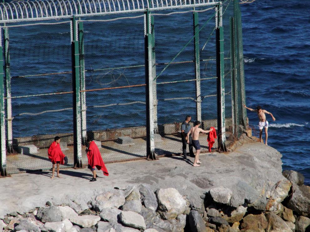 Llegada masiva de migrantes a Ceuta.