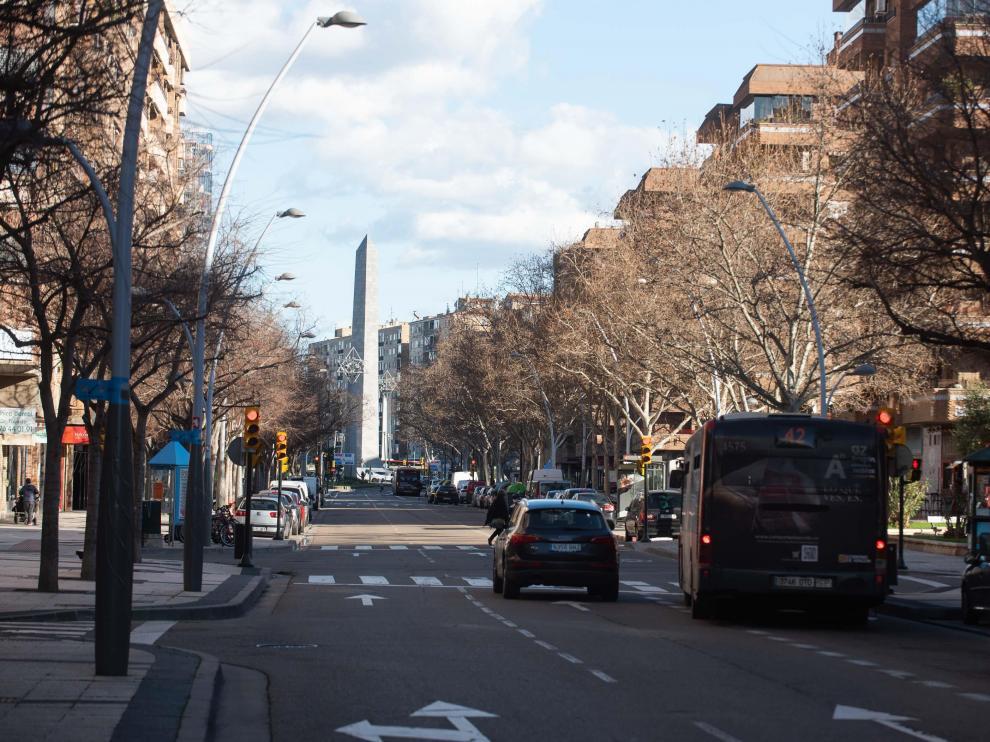 La avenida de Pablo Gargallo, en La Almozara, posible eje comercial número 12 del Plan de Comercio