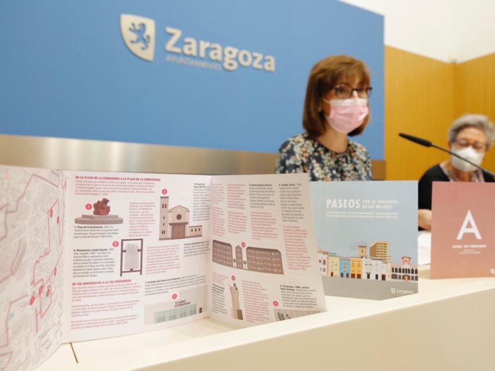 Presentación de 'Paseos por la Zaragoza de las mujeres'.