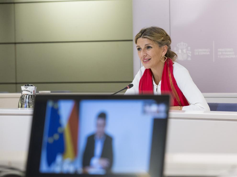 La vicepresidenta tercera y ministra de Trabajo y Asuntos Sociales, Yolanda Díaz.