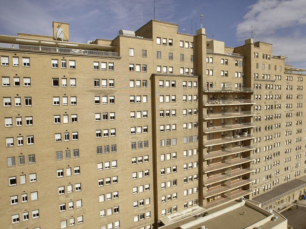 Uno de los grandes hospitales aragoneses, el Servet.