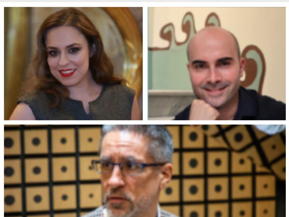 Cristina Toledo, Albert Casals y Aurelio Viribay