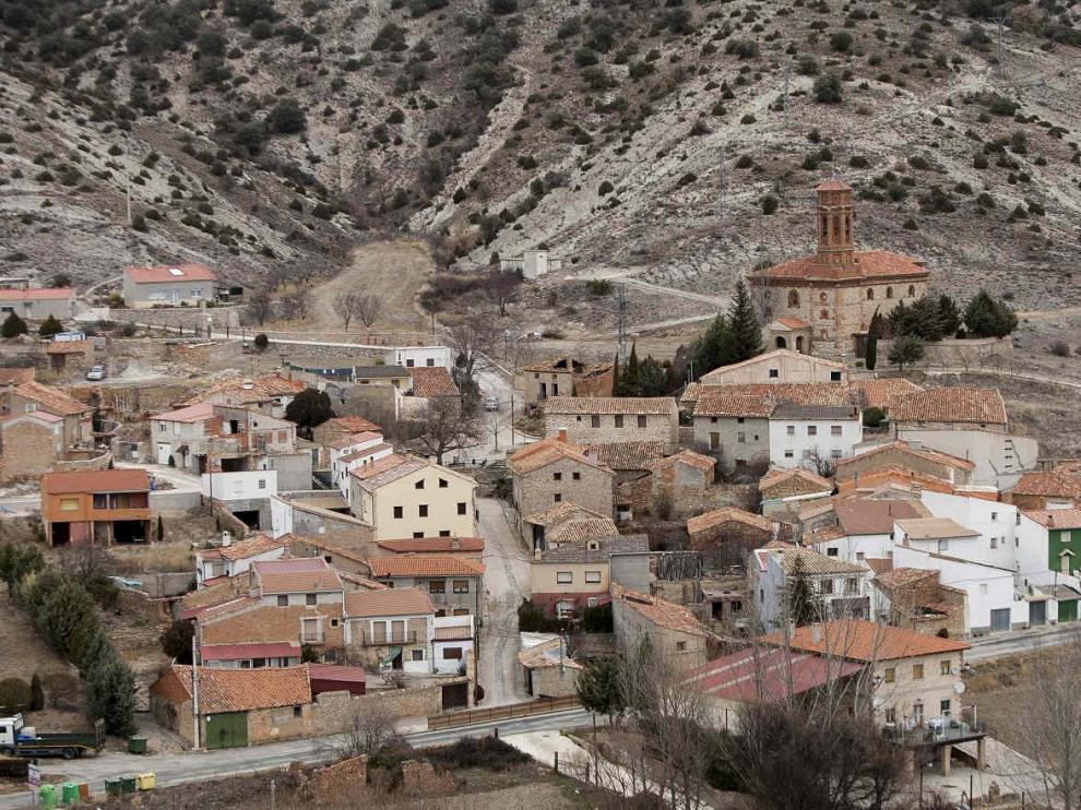Vista del municipio de Bea, en la provincia de Teruel.
