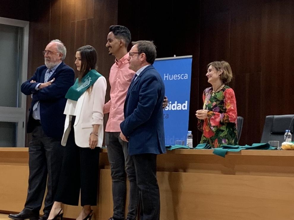 Foto de archivo del acto de entrega de becas y diplomas del Colegio Mayor Ramón Acín de Huesca.