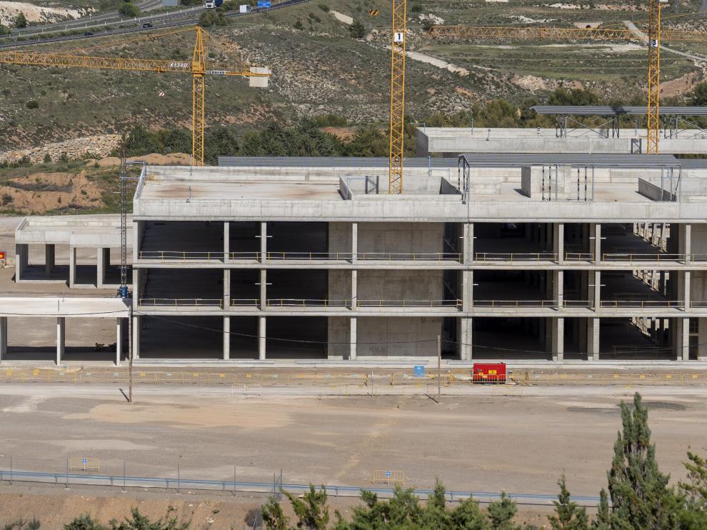 Obras del nuevo Hospital de Teruel. Foto Antonio garcia/Bykofoto. 21/05/21[[[FOTOGRAFOS]]]