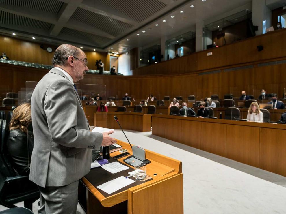 Sesión de control al Gobierno en las Cortes de Aragón