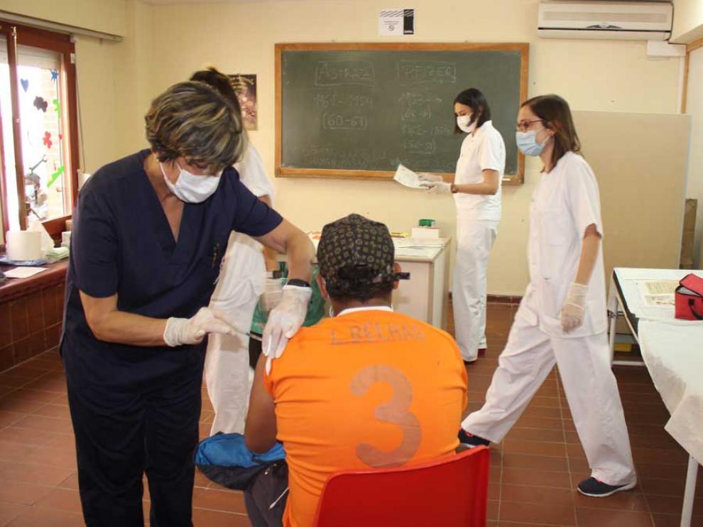 Vacunación en Caspe