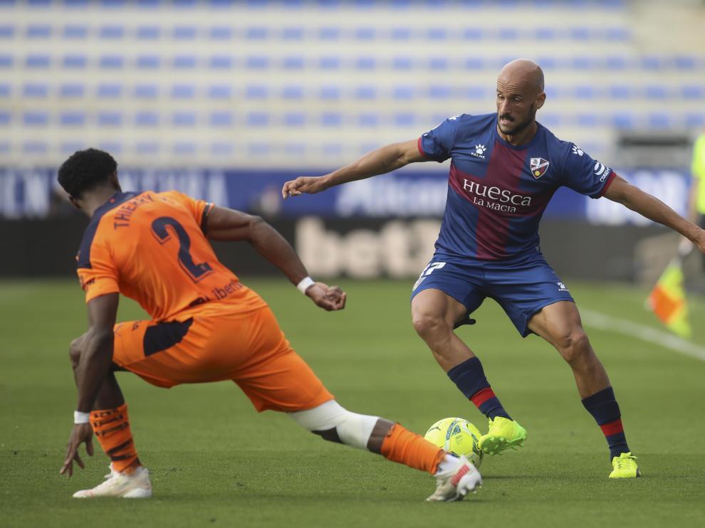 Mikel Rico, durante el partido contra el Valencia.