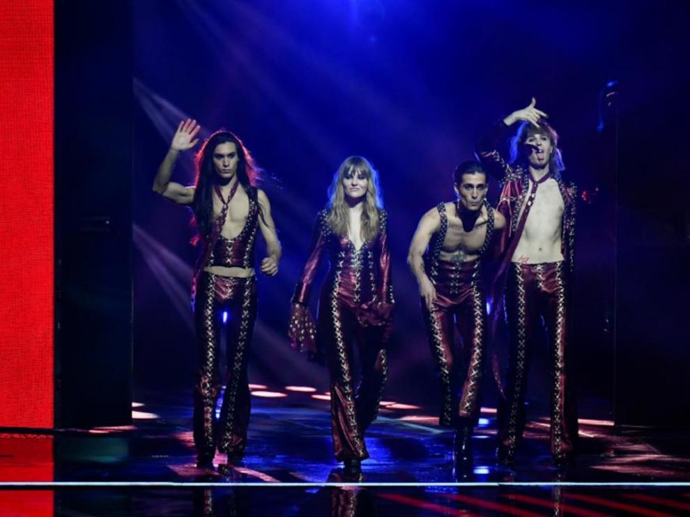 Maneskin, grupo italiano ganador de Eurovisión.