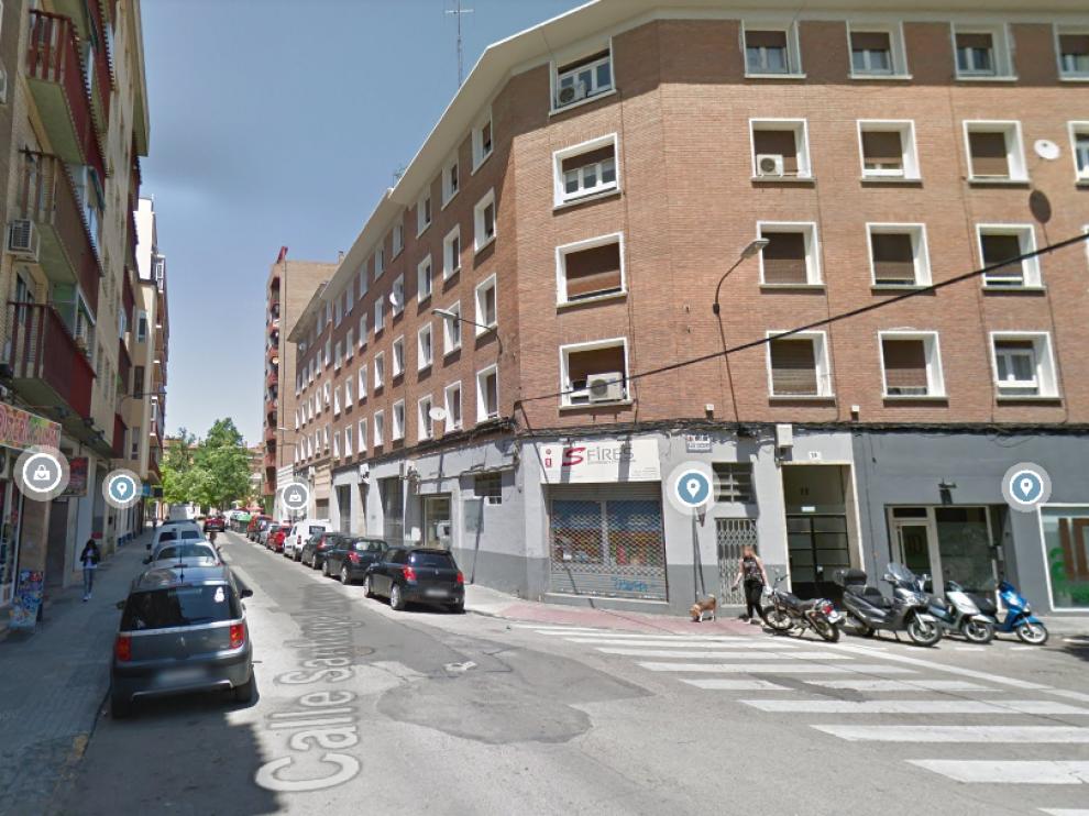 Calle de Santiago Lapuente, en el barrio Jesús de Zaragoza.