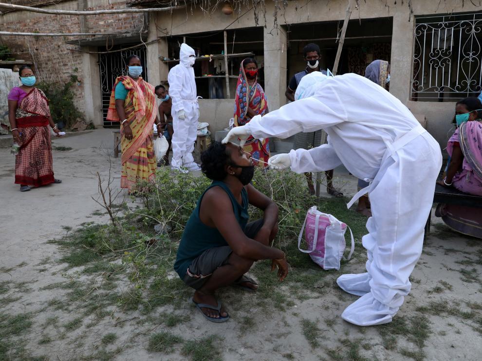 Pruebas de coronavirus en la India.