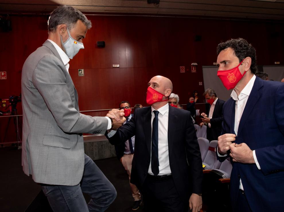 Spain coach Luis Enrique announces his squad for Euro 2020 at Spanish Football Federation headquarters in Las Rozas