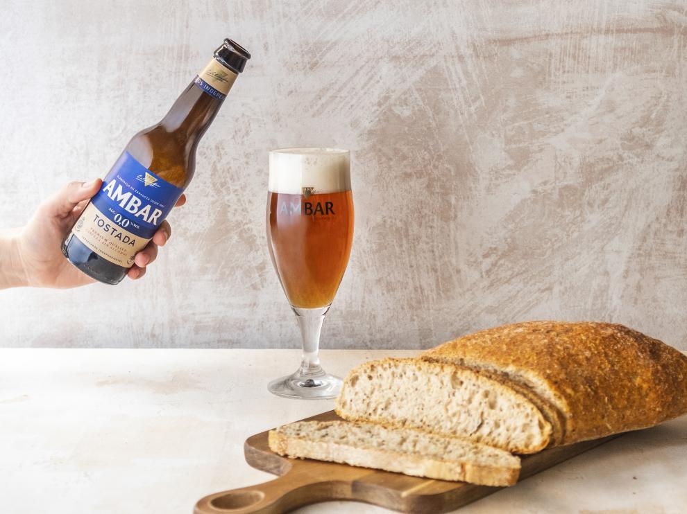 El pan con corazón de cerveza que elabora Panishop utilizando el bagazo cervecero de Ambar.
