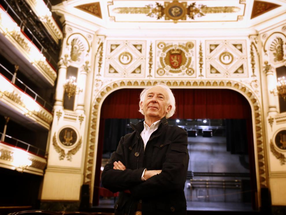 Albert Boadella, este miércoles en el Teatro Principal de Zaragoza.