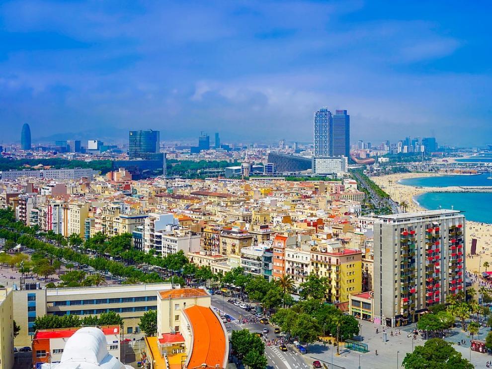 Foto de archivo de las playas de Barcelona