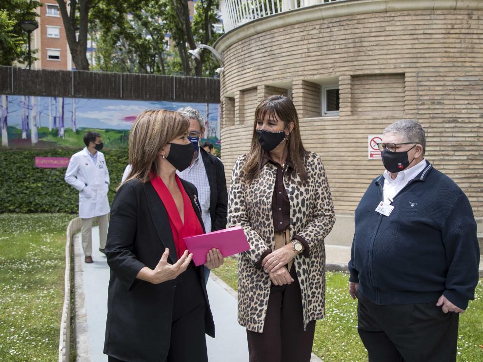 Visita de Sira Repollés al hospital San Juan de Dios de Zaragoza