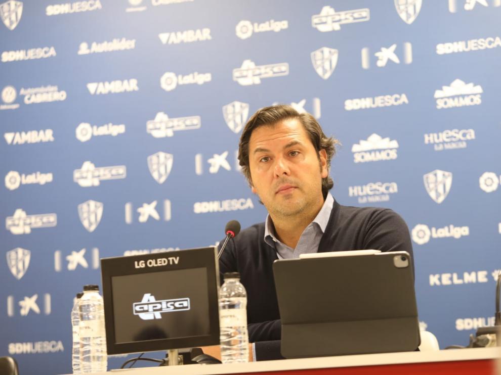 Rubén García, durante la rueda de prensa de este miércoles.