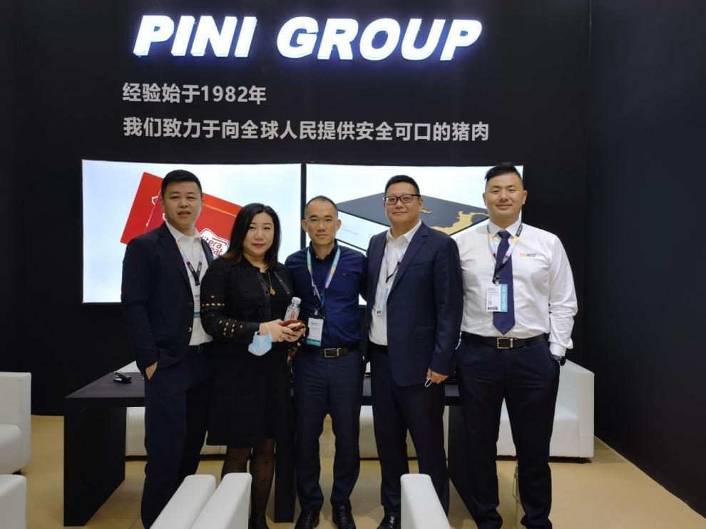 Equipo comercial de Litera Meat en el congreso SIAL China 2021.