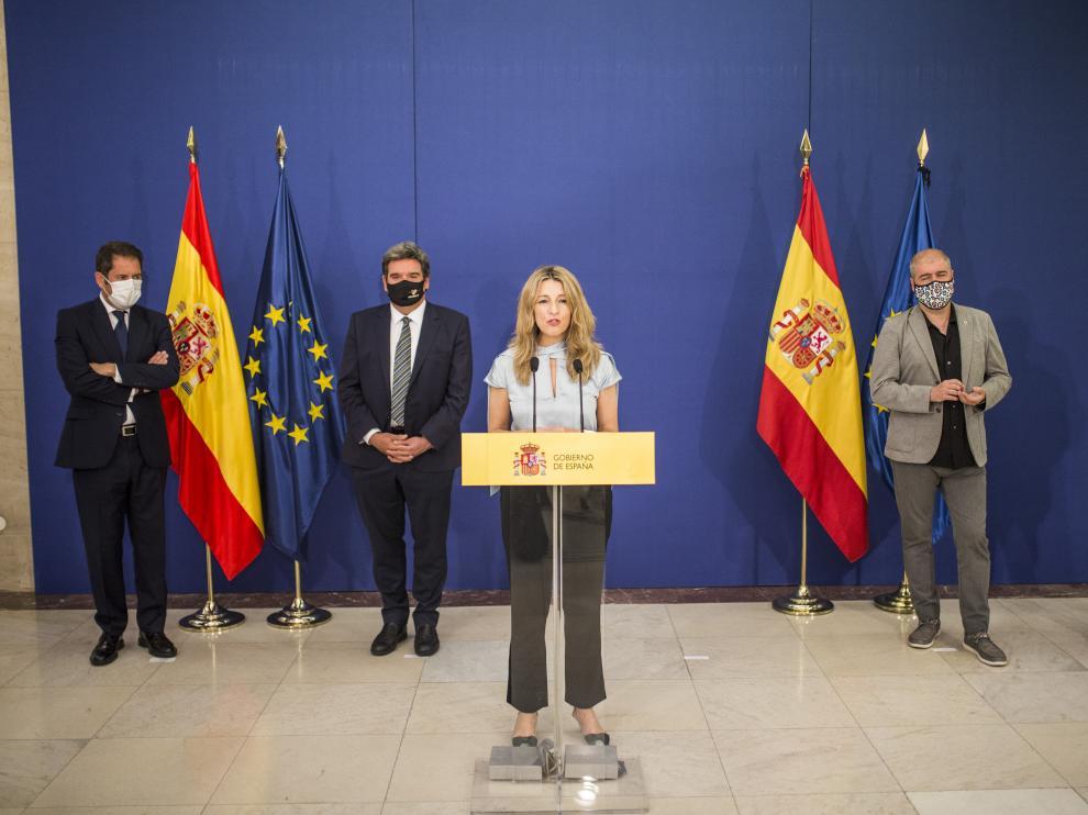 Firma del acuerdo de los ERTE