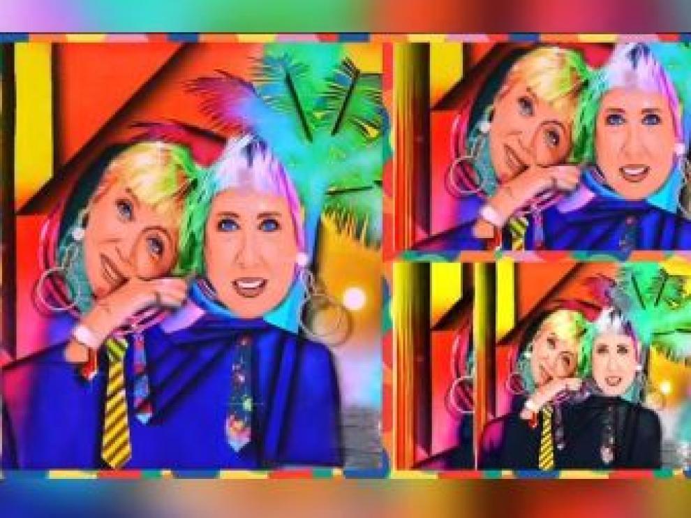 Fotograma de uno de los proyectos de videoarte de las hermanas Hurtado.