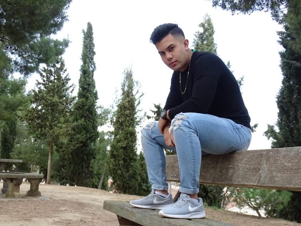 Jorge, en una foto tomada en el parque San Julián de Grañén.