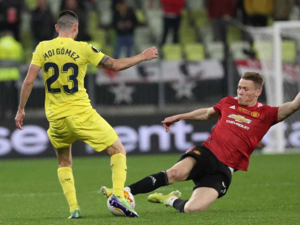 Moi Gómez disputó la final del miércoles ante el Manchester United.
