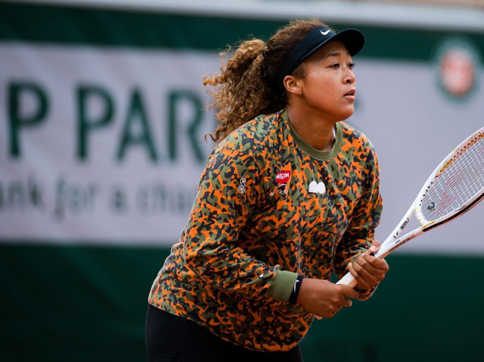 Naomi Osaka, este jueves, en Roland Garros.