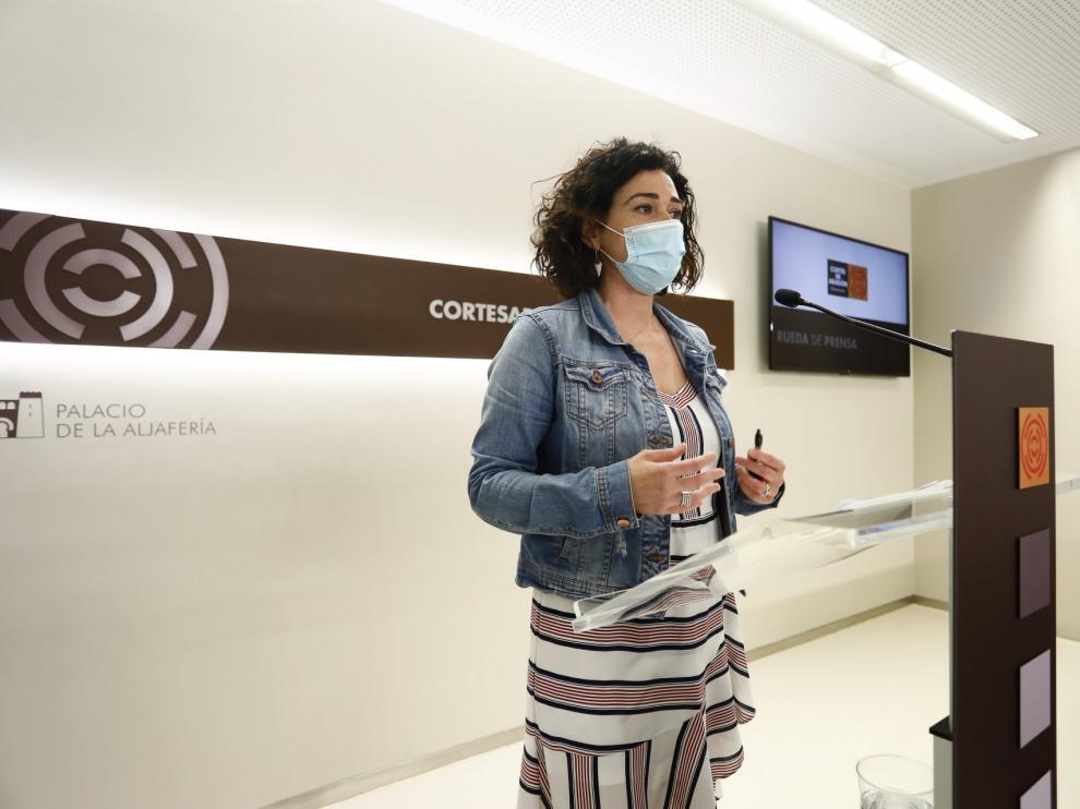 Rueda de prensa de Erika Sanz en Zaragoza