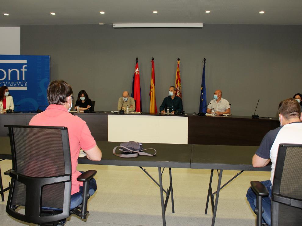 Imagen del pleno del miércoles, donde se aprobó e reglamento de los bonos Impulsa Binéfar.