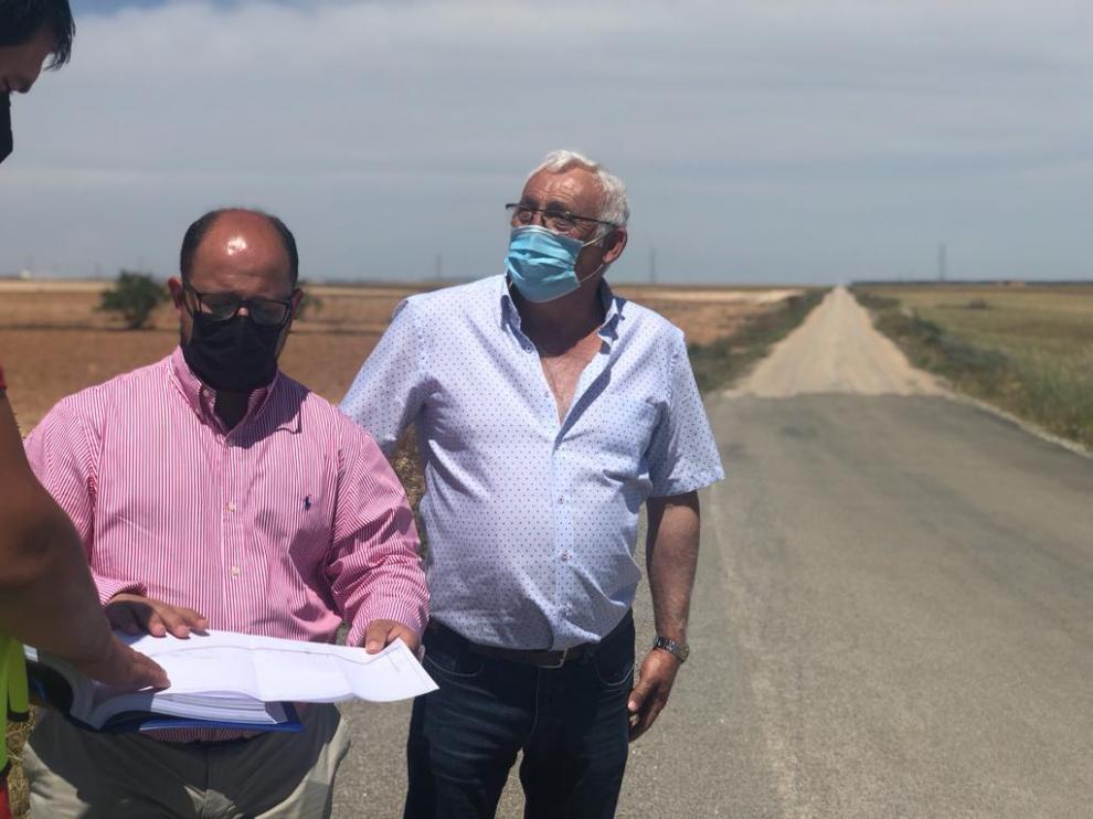 La visita a Vinaceite del vicepresidente de la DPT, Alberto Izquierdo