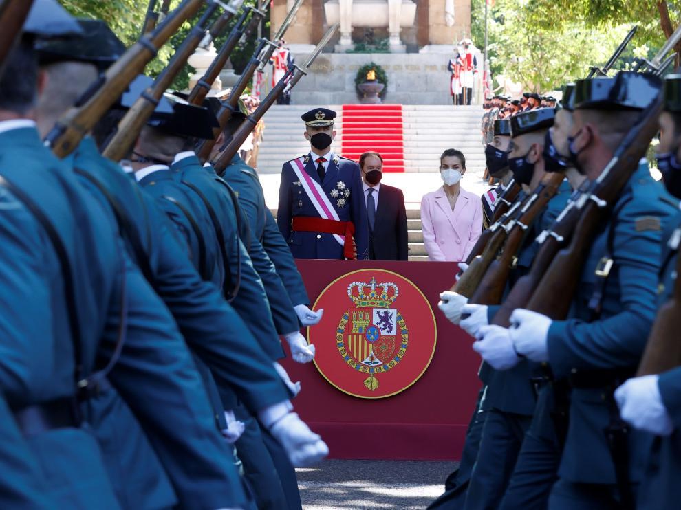 El rey participa en la celebración del Día de las Fuerzas Armadas