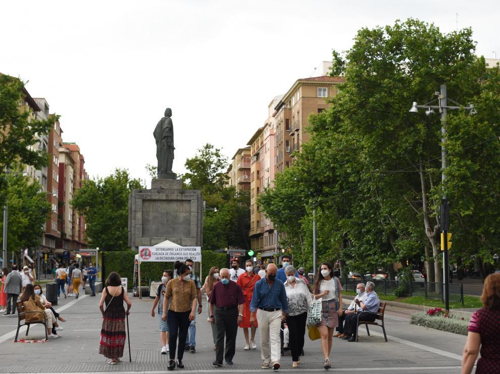 Tarde de sábado en Zaragoza