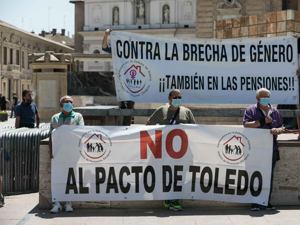 Protesta de pensionistas en Zaragoza