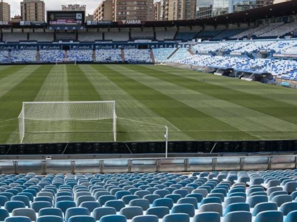 Estadio de La Romareda, donde este domingo se despide la liga 20-21.