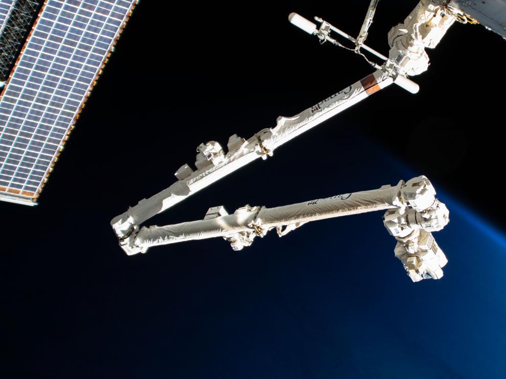 Brazo robótico de la Estación Espacial Internacional