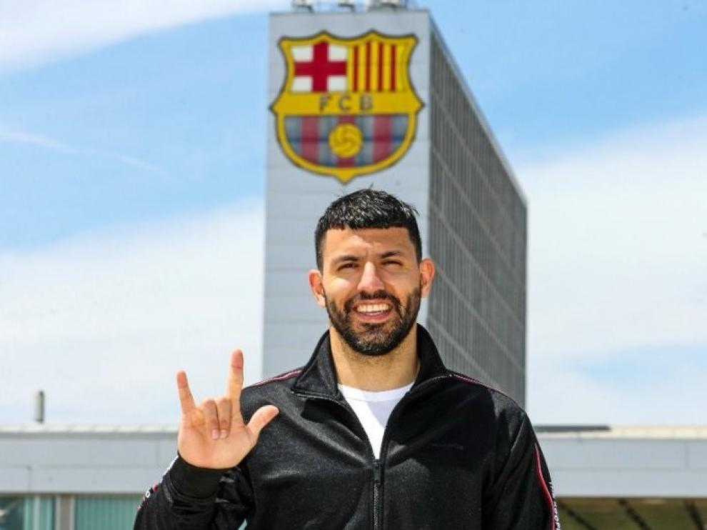 Kun Agüero en Barcelona