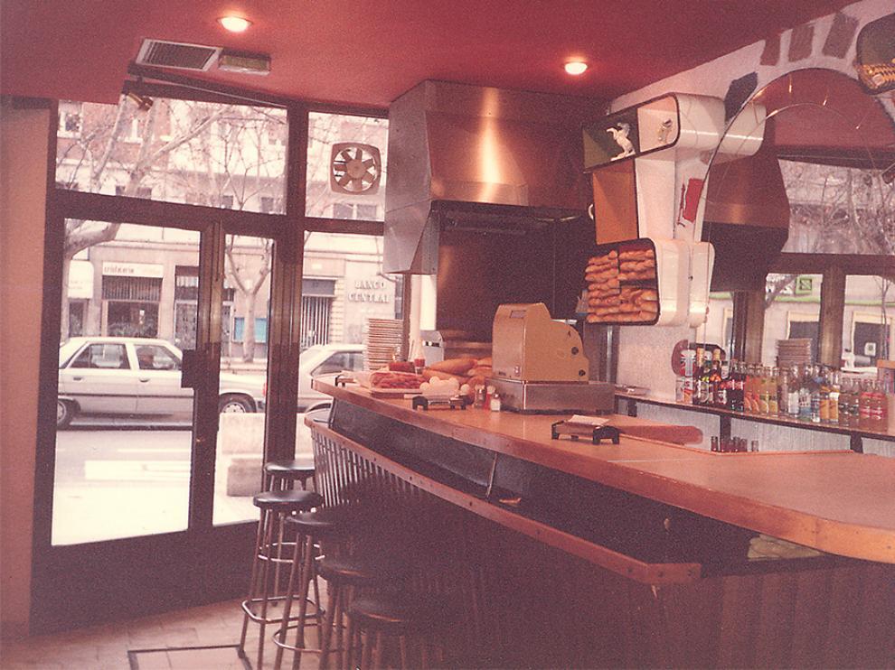 El Bar Nevada, la primera hamburguesería de Zaragoza