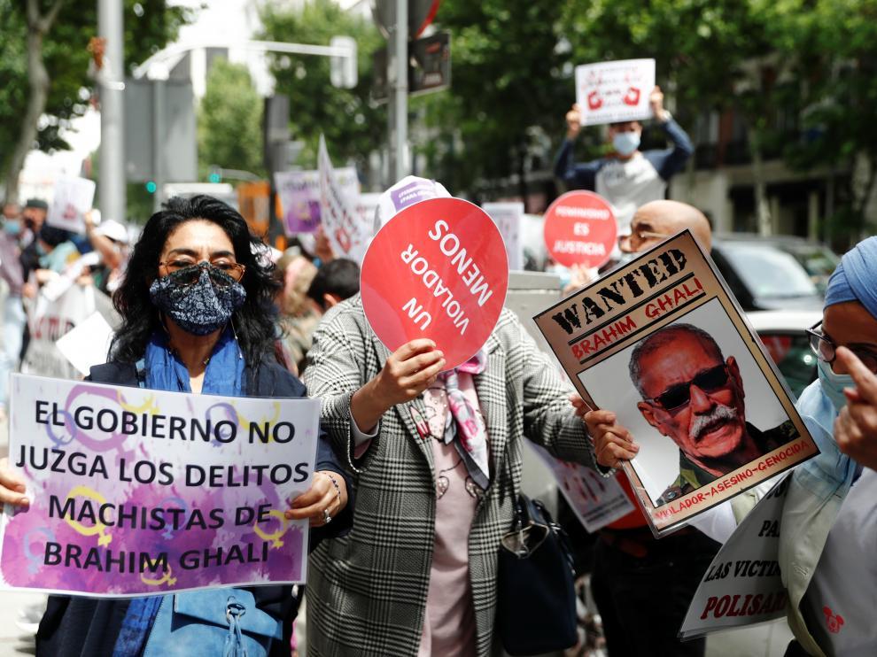 Protesta contra Brahim Gali a las puertas de la Audiencia Nacional