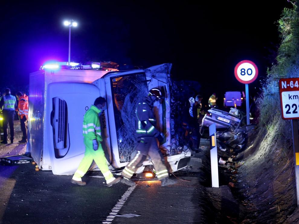 El accidente en el que han muerto tres jóvenes.