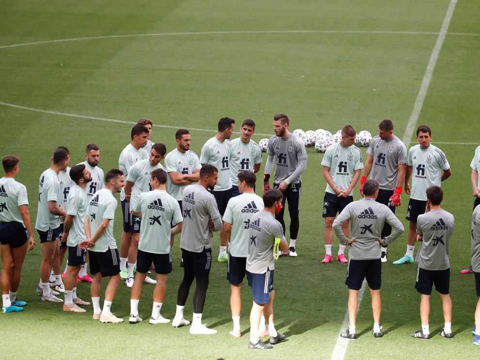 Rueda de prensa de la selección española