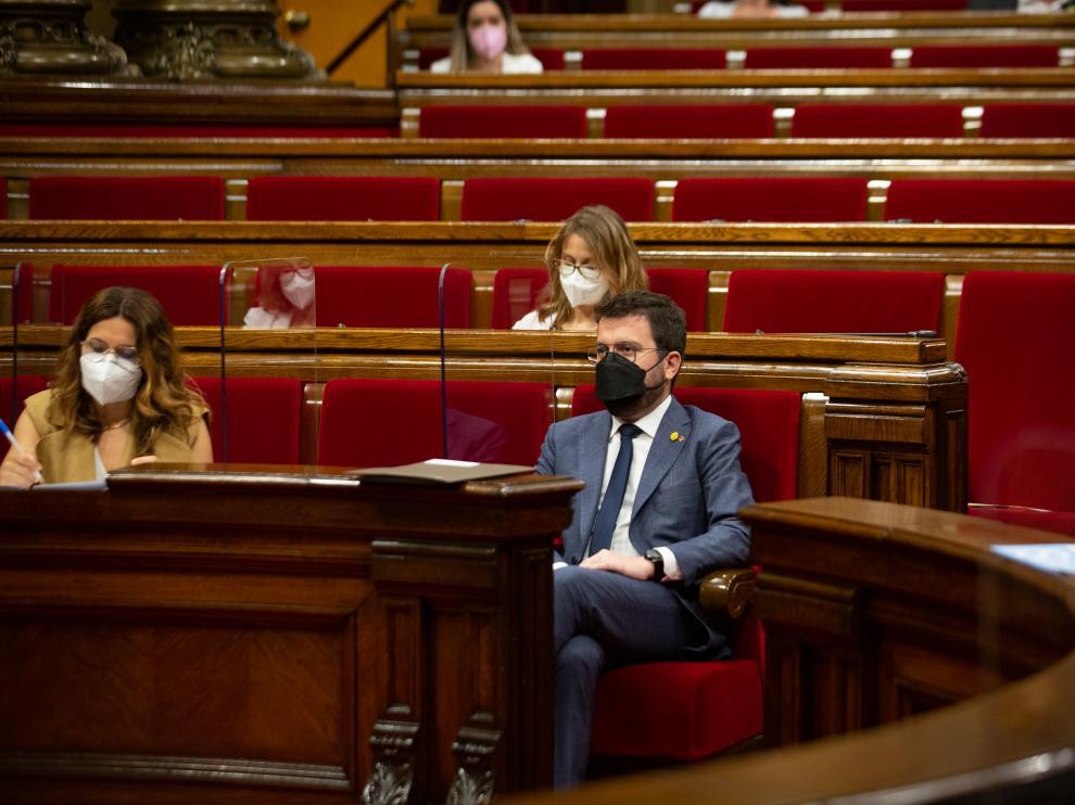 El presidente de la Generalitat de Cataluña, Pere Aragonès.